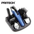 Pritech 6 en 1 recargable trimmer de pelo profesional cortadora de cabello para hombres máquina de afeitar eléctrica pelo de la barba trimmer máquina de corte