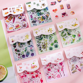 40pcs/lot Creative Aesthetic Plant Series Sticker Pack Paper Decoration Diy Ablum Diary Scrapbooking Label Stickers