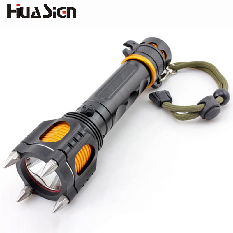 2017 New Arrival! Military Tactical Led Flashlights Multifuntional Self defense LED Flashlight Lights Torch for Camping