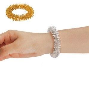 Image 1 - Palec nadgarstka masaż pierścień akupunktura pierścień opieki zdrowotnej masażer ciała Relax akupresura masaż dłoni bransoletka