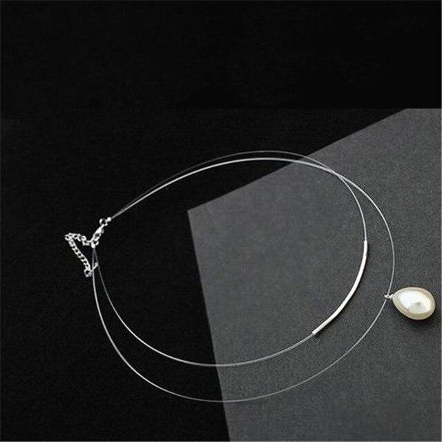 Ожерелье чокер женское Двухслойное из прозрачной невидимой линии