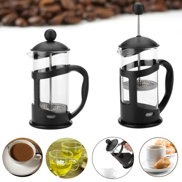 French Coffee Pot Filtration  Coffee Maker Durable 350ml Portable French Press Heat-Resistant Filter Coffeepot