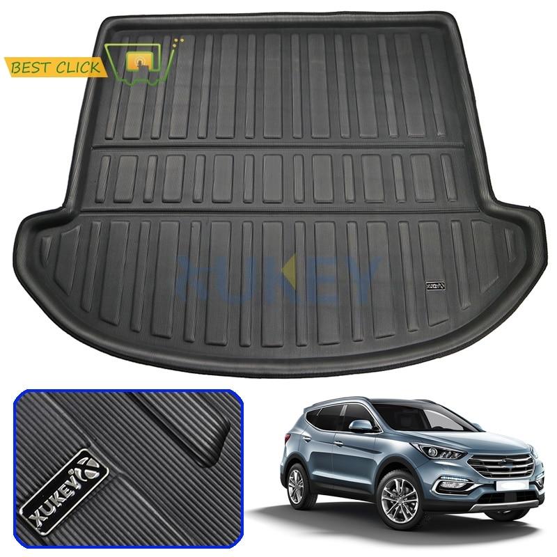 Fit For Hyundai Santa Fe 7 Seater 2013-2018 2014 2015 Rear Trunk Cargo Mat Boot Liner Tray Floor Carpet Mud Kick Protector Pad