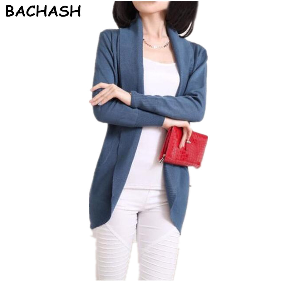 BACHASH New Style 7 COLORS New Casual Sweater Cardigans Women Soft Skin Care Material Solid Colors High Quality Girl Collar 2018