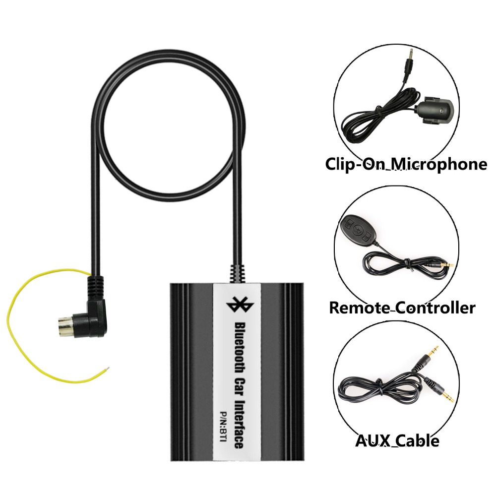 Bluetooth Hands Free Adaptor Car Integrated USB AUX Jack Interface for Volvo HU XC70 1999-2007 car usb sd aux adapter digital music changer mp3 converter for skoda octavia 2007 2011 fits select oem radios