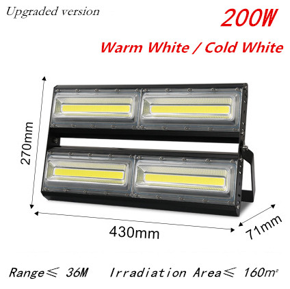 цена на HOT 50W 100W 150W 200W 110-240V LED Flood Light IP65 Waterproof LED Floodlight COB Energy Saving LED Spotlight Outdoor Wall Lamp