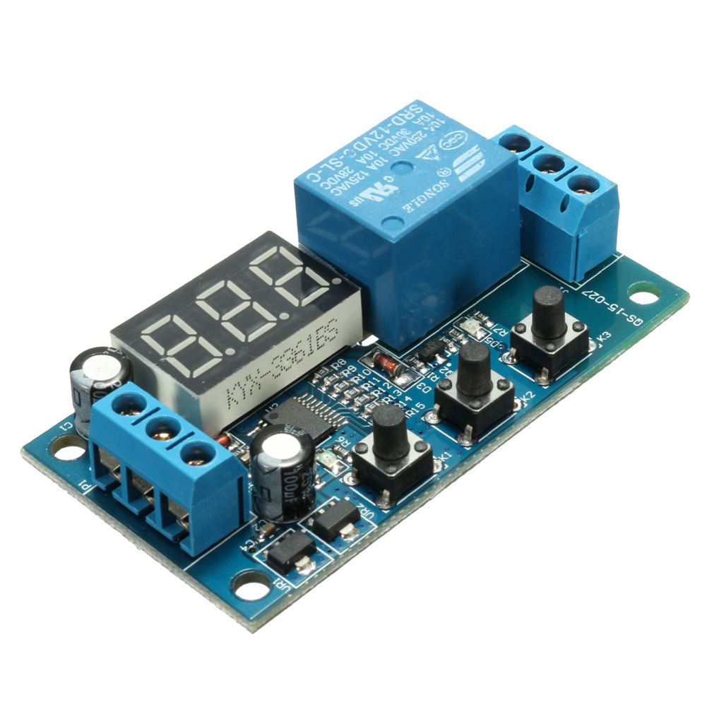 SHGO HOT-DC 12V Delay Time Switch Module Cycle Timer Control Relay Multifunction Circuit dc 12v relay multifunction self lock relay plc cycle timer module delay time switch