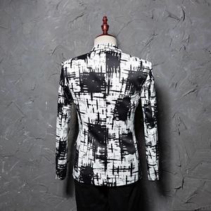 Image 3 - PYJTRL מותג M 5XL גאות גברים דיו סגנון Hit צבע אופנה פנאי חליפת מעיל בלייזר עיצובים Masculino Slim Fit תלבושות Homme