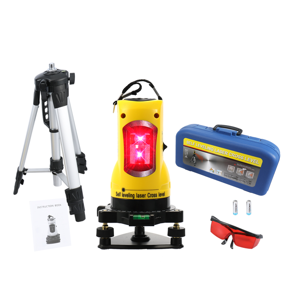 2 lines laser level Self 360 Degree Rotary Leveling Laser Cross Level Horizontal and Vertical Lines Infrared Laser 650nm kapro laser level laser angle meter investment line instrument 90 degree laser vertical scribe 20 meters