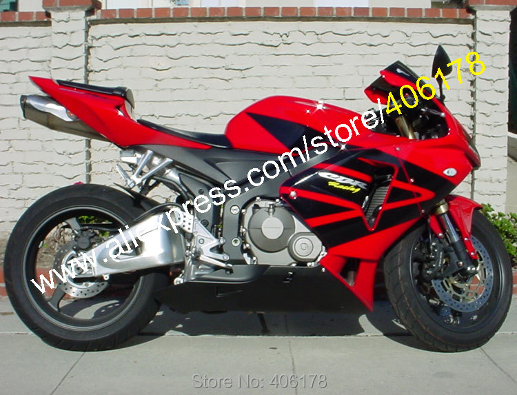 Hot Sales,Red Black For Honda CBR600RR F5 2005 2006 CBR 600 RR 05 06 CBR600 600RR Body Work ABS Fairing Kit (Injection molding) hot sales for honda cbr600rr 2003 2004 cbr 600rr 03 04 f5 cbr 600 rr blue black motorcycle cowl fairing kit injection molding