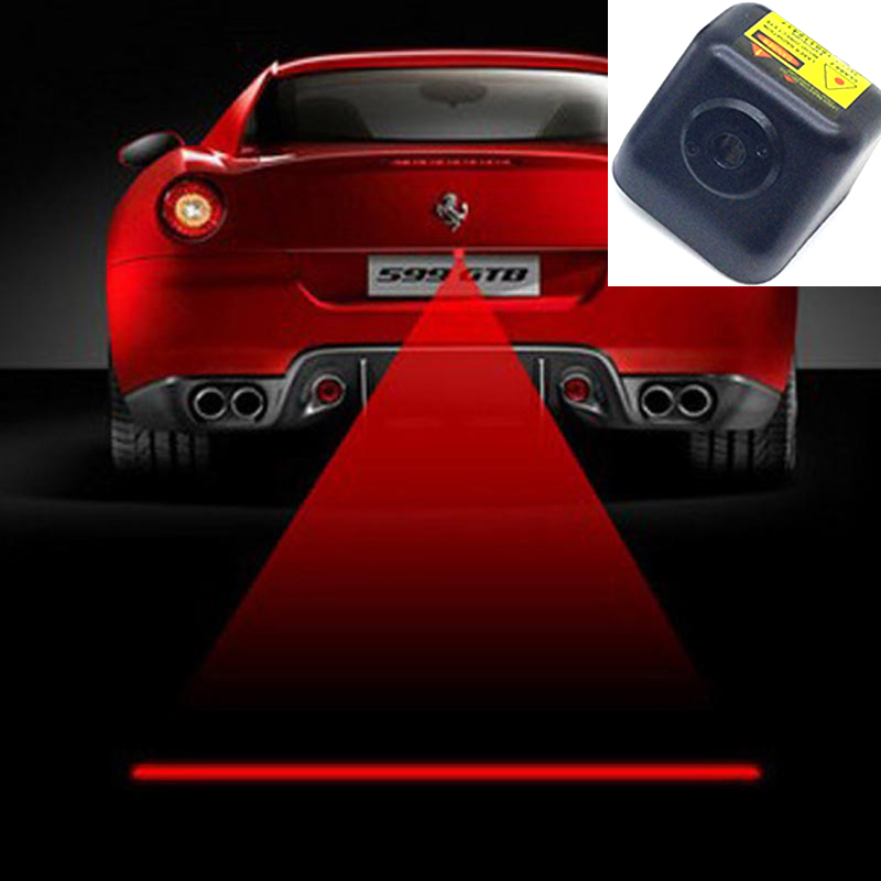 LED car laser fog light rear tail warning external automobiles for anti collision rear end auto safe driving parking