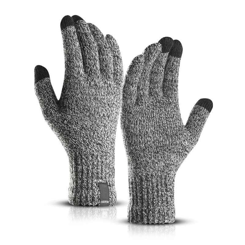 LESOV Woolen Touch Screen Gloves for Men with Highly Sensitive Conductive Fiber on Thumb and Index Finger Works with All Touch Screen Device 9