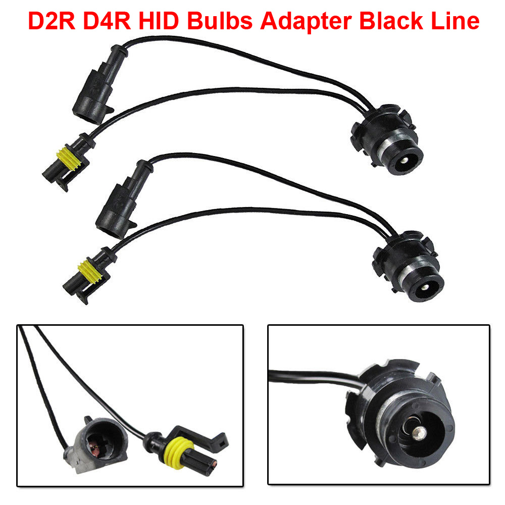 Hot Sale 2pcs D2 D2r D4 D4r Oem Hid Xenon Headlight Bulbs Ballasts Wiring Harness Holders Black Line Wire Cable Adapter Holder Socket Plug N Play