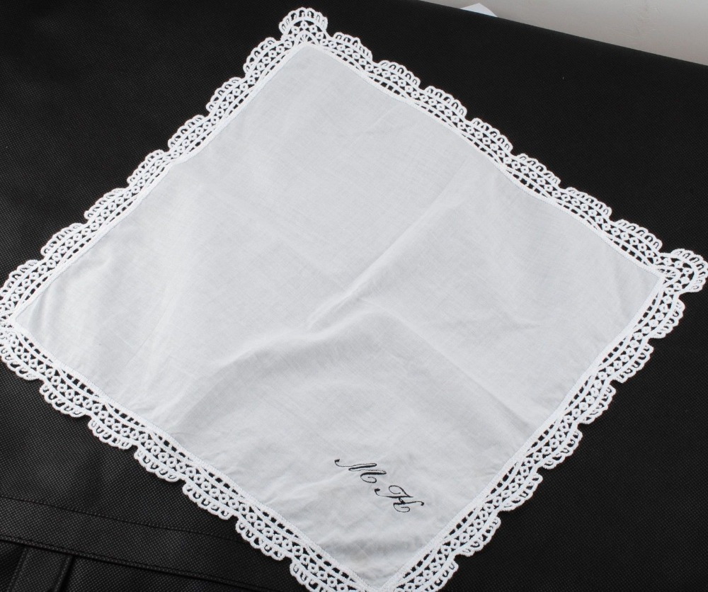 Compare prices on embroidered wedding hankies online