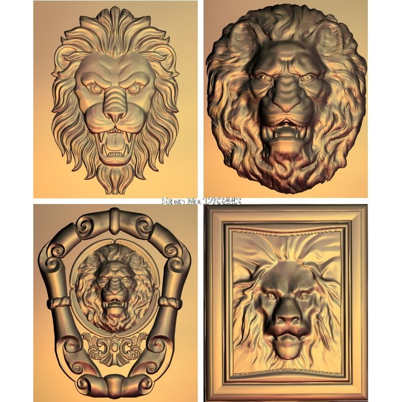 4pcs Lion_head 3d model STL relief for cnc STL format Lion_head 3d Relief Model STL Router 3 axis Engraver ArtCam theotokos mother of god 3d model for cnc stl format religion 3d relief model stl router 3 axis engraver artcam
