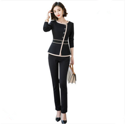 Autumn And Winter Women's Suit Beauty Technician Overalls Long-sleeved Hotel Front Desk Staff Staff Health Salon Uniform Occupat