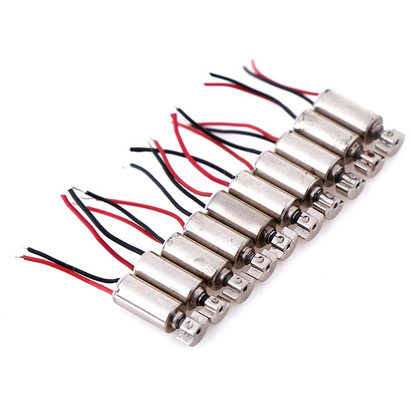 5/10 шт., микро Вибрационный двигатель постоянного тока, без сердечника, вибратор 4,4 х4, 4 мм, для сотовых телефонов, моторы и детали для DC1.5-3V