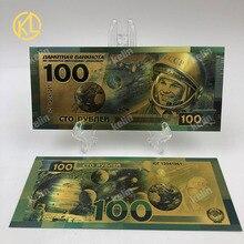 RU019 русский сувенир Золотая банкнота со знаменитым героем астронавта Юри Гагарина для фанатов сувенирные подарки и коллекция