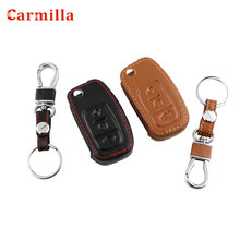 Cover Key-Protector Ecosport Kuga Ford Focus Case-Holder Key-Ring Fiesta Genuine-Leather