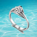 Solid genuine 925 sterling silver ring for girls 2014 brand new ring
