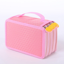 Korean Stationery Cute Cartoon Pencil Oxford Cloth Boys And Girls Brush Box 72 Holes Sketch Pencil Case 6 Color Available Penalt(China (Mainland))