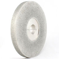 6 дюймов гранильной Грит 60 180 Diamond Лицо шлифовального круга покрытием фронтальной абразивный диск залп Арбор 1 ювелирные инструменты для ка