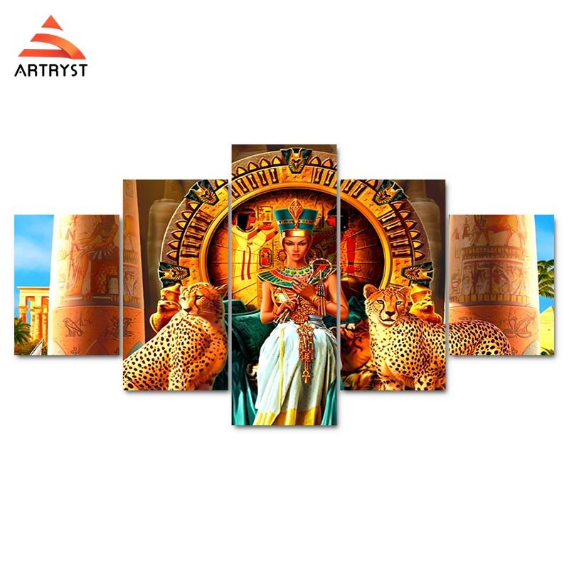 ArtRyst 5 vægkunst af egyptisk dronning billeder på - Indretning af hjemmet - Foto 2
