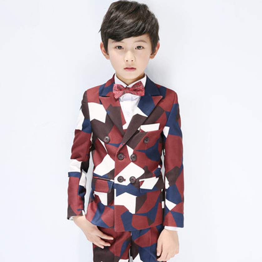2018 New Boys Blazer Wedding Suits Brand Kids 5PCS Formal Suits with Bow Boys Party Tuxedos Costume Double Breasted Suit S84014A new fashionable men s suits new dark green men suits formal business tuxedos men wedding suit jacket pants custom