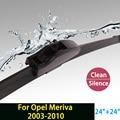 """Limpiaparabrisas para Opel Meriva (2003-2010) 24 """"+ 24"""" estándar fit J gancho limpiaparabrisas armas sólo HY-002"""