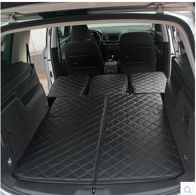 Good Special Trunk Mat Back Mats For Seat Alhambra 2015 2011 7seats Waterproof Leather Carpet