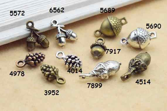 30pcs Charms pine cone handmade Craft pendant making fit,Vintage Pinecone Pineal charms 7917