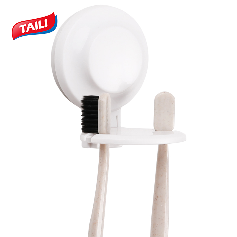 TAILI Toothbrush Suction Cups Holder Portable Toothbrush Holder Wall Mount Stand Mini Bathroom Tool Bathroom Rack