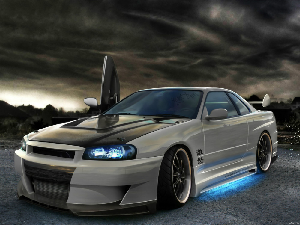 Full Range Of Specifications And Sizes And Great Variety Of Designs And Colors Nissan Skyline Neon Tuning Car Auto Art Huge Print Poster Txhome D2501 Famous For High Quality Raw Materials