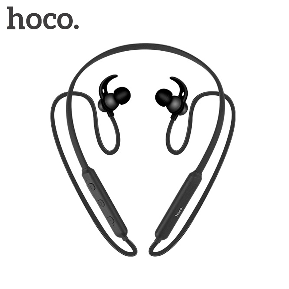 HOCO Metal Sport Bluetooth Headphone Sweatproof Earphone Magentic Earpiece Stereo Wireless Headset for Mobile Phone factory price binmer high quality q2 sport stereo touch button wireless bluetooth 4 1 headphone earphone drop shipping wholesale
