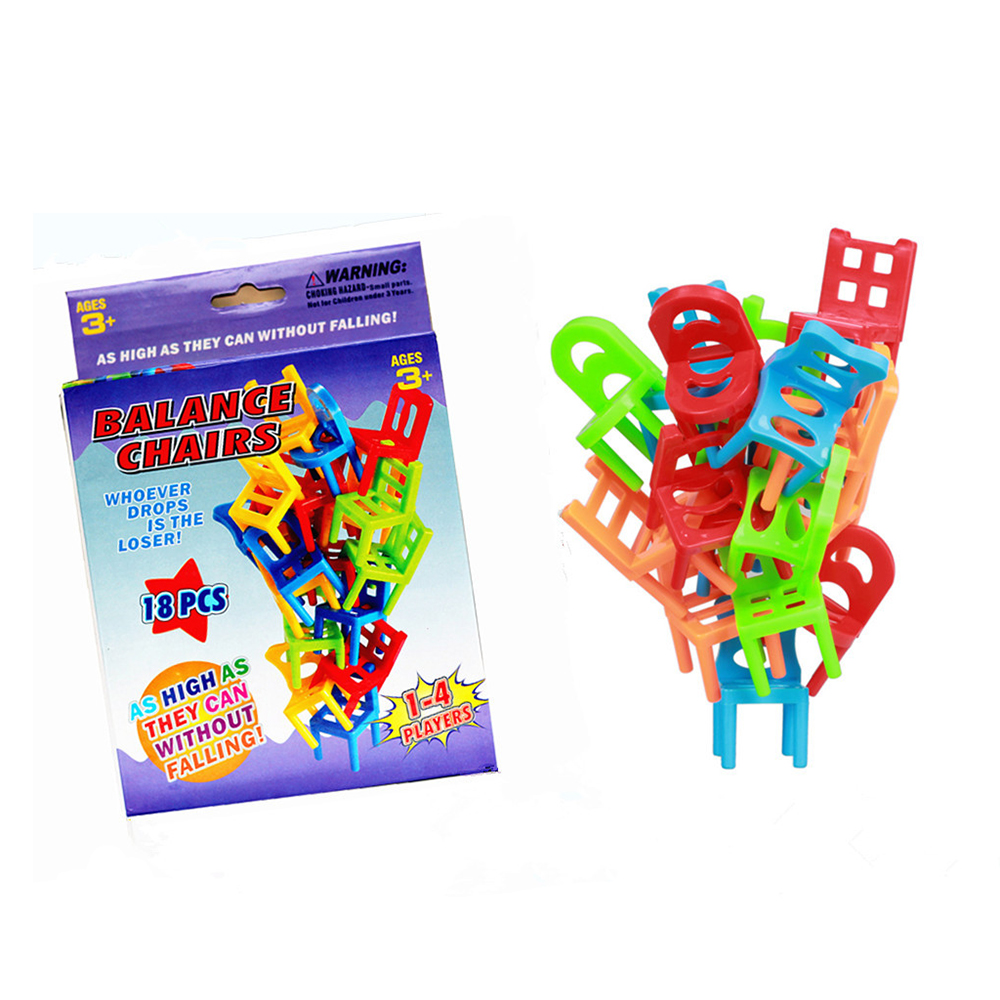 Kids stacking chairs - Children S Toy Balance Chairs Hot Board Games 18x Plastic Balance Toy Stacking Chairs For Kids Desk