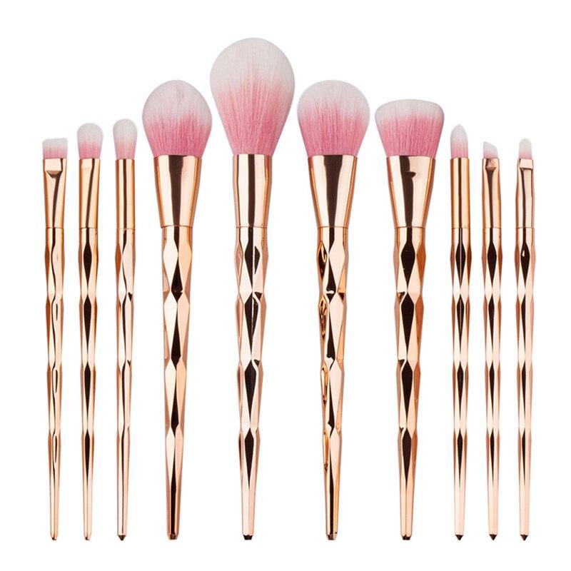 10pcs/set Set Pro Women Cosmetic Brushes Set Powder Eyeshadow Foundation Face Blushes New Makeup Beauty Kits Tools 131-1028 casserole set