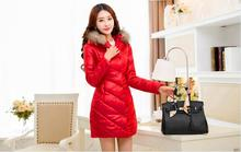 plus size  women's winter coat genuine paragraph cotton jacket and long sections windbreaker jacket