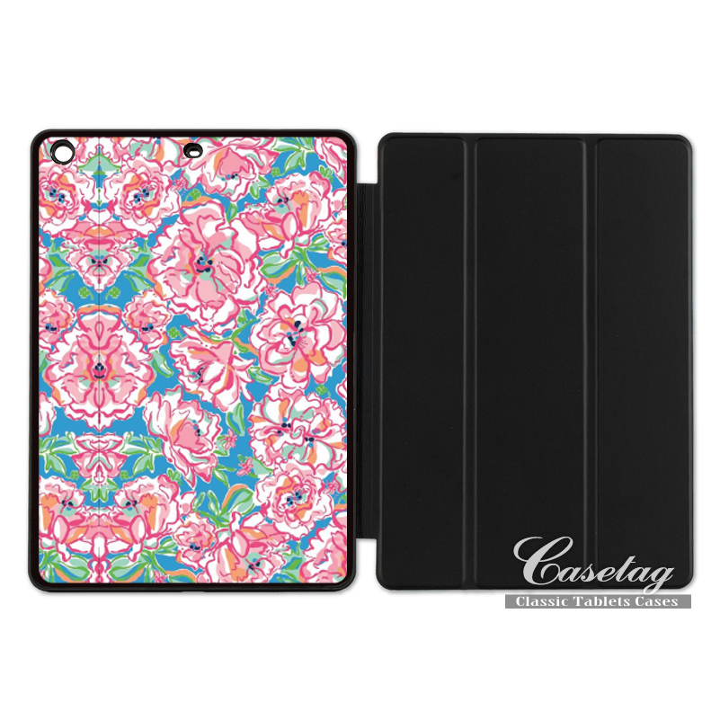 Lilli Pulitzer Pink Floral Girly Pretty Smart Cover Case For Apple iPad 2 3 4 Mini Air 1 Pro 9.7 10.5 12.9 New 2017 a1822