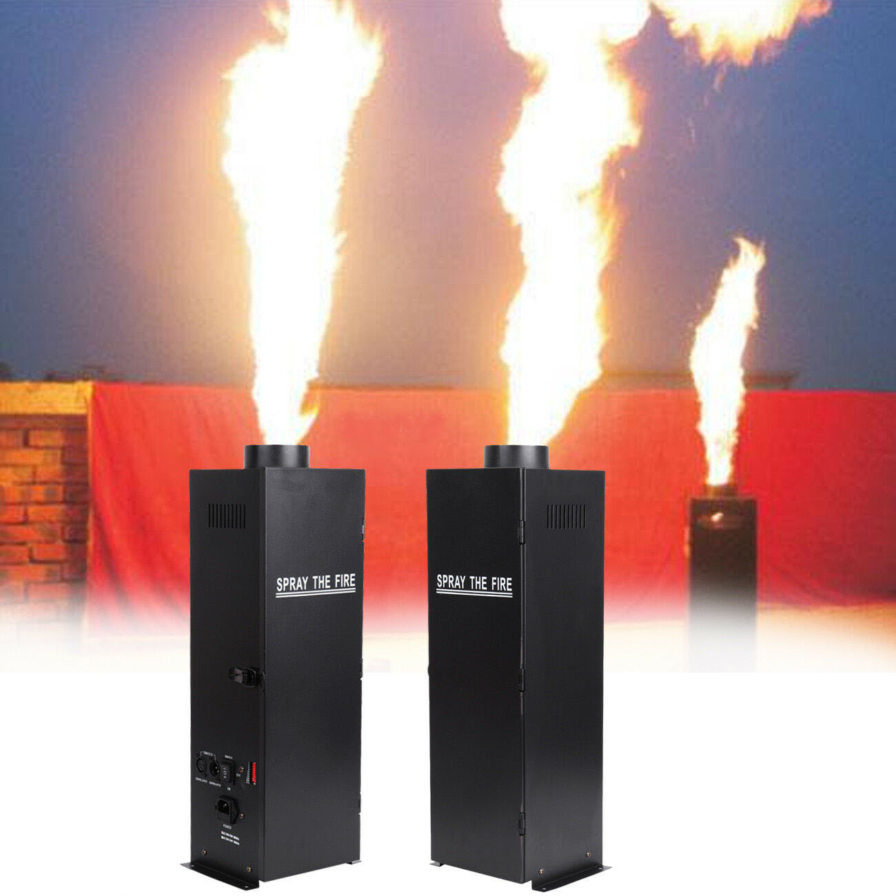 2 pcs/lot 200W Fire Spraying Machine Effect Flame DMX Launcher DJ Band Scene Fuel Fire Machine