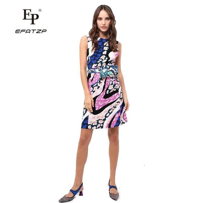 새로운 패션 2019 봄 디자이너 드레스 여성 민소매 꽃 인쇄 xxl 스트레치 저지 슬림 실크 데이 드레스-에서드레스부터 여성 의류 의  그룹 1
