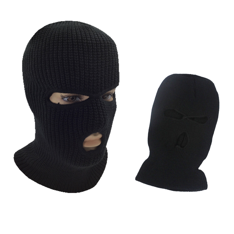 3 Hole Face Hat Brand Full Ski Windproof Cap Warm Balaclava Hood Army Tactical Men Special Masks Defender Dirt Wind For Riding