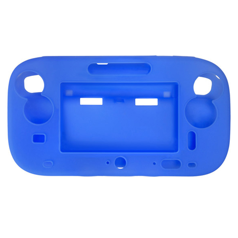 100pcs a lot wholesale Silicone Case Skin shell Protective Cover for Wii for U Gamepad protector (Full Body)