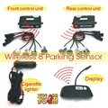 band new best quality wireless front and rear detection car parking sensor system cigarette lighter charge LED display