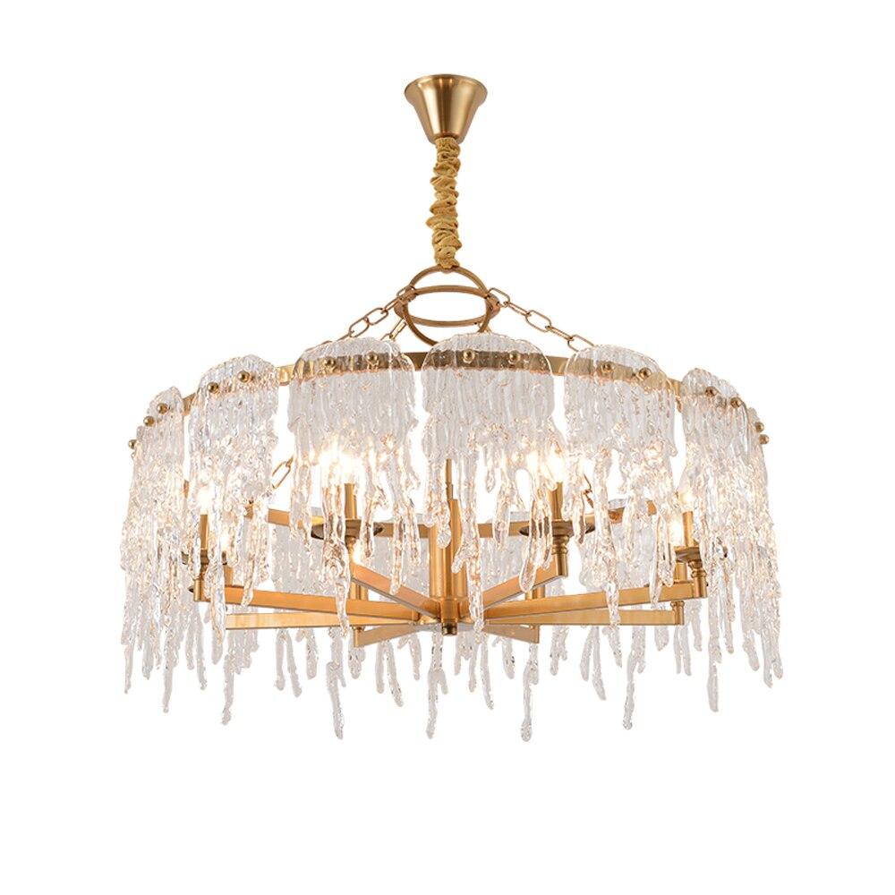 Novo design AC110V 220 V ouro candelabro de suspensão luz LED lâmpada moderna sala de estar sala de jantar iluminação lustre