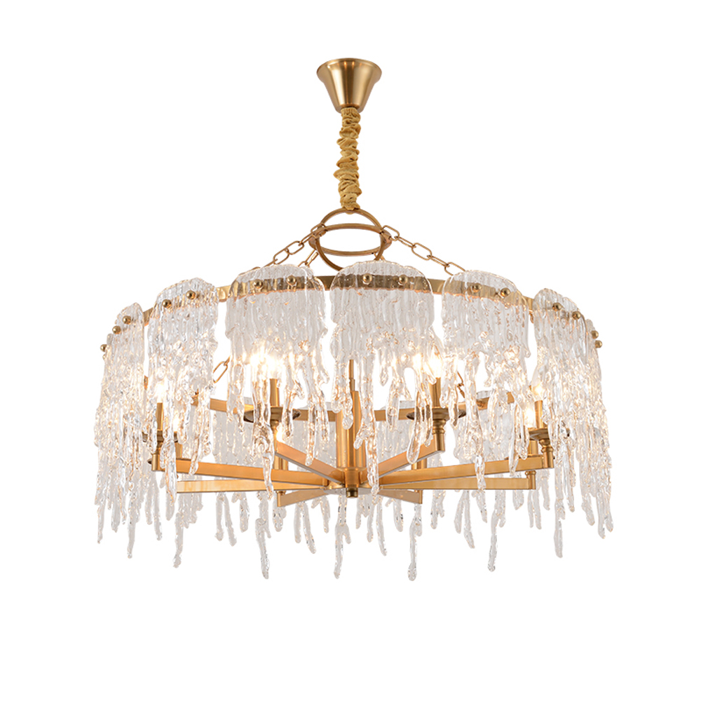 new design hanging chandelier LED light modern lamp AC110V 220V gold living room dinning room chandelier lighting