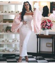 2017 Sexy Abendkleid Dubai Abendkleid Mantel Trägerlose Lange Ärmel Neue Ankunft Preiswerte Lange Abschlussball-kleider Party Kleid