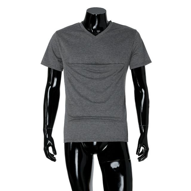 Summer Baby Carrier T-Shirt Men Multifunction Short Sleeve t-shirt