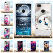 For ZTE Blade V9 Case Soft TPU Silicone Back Cover Flower Cute Patterned Bag 5.7 Phone Cases
