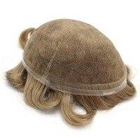 Eversilky незаметная полная швейцарская кружевная Мужская 100% remy натуральный волос Замена системы Toupee волос кусок Замена