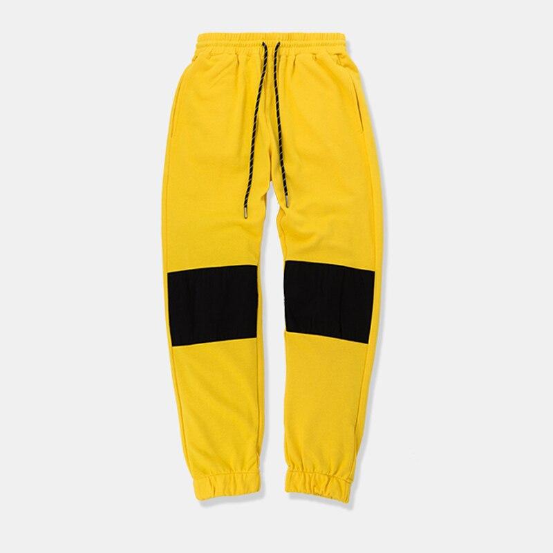 Empalmado Pantalones Casual Joggers Cintura Invierno Streetear Sueltos Sweatpants Vintage Amarillo Otoño Elástica 2018 Ropa wHAZxx
